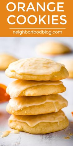 Cookie recipes 54184001755411658 - These soft, fluffy Orange Cookies are packed with bright citrus flavor. This easy cookie recipe is the perfect afternoon baking project! Source by kristynm Köstliche Desserts, Delicious Desserts, Dessert Recipes, Yummy Food, Orange Recipes Easy Desserts, Easter Recipes, Recipes With Oranges, Healthy Food, Healthy Eating