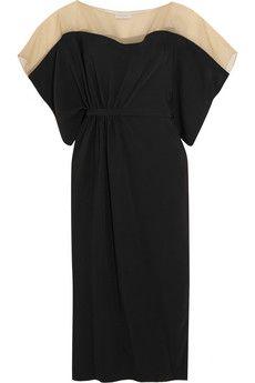 Vionnet Draped organza-paneled crepe dress  | THE OUTNET