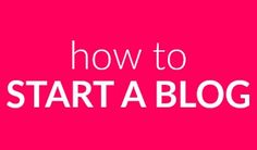 how to start a blog sidebar new