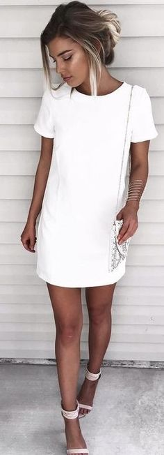 white dress / #summer #fashion