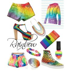 Rainbow clothes and accessories