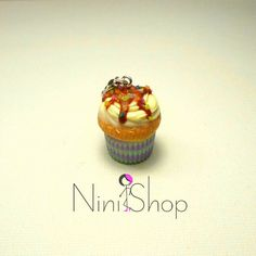 Caramel and sprinkles Handmade cupcake charm made from polymer clay Polymer Clay Jewelry, Sprinkles, Caramel, Cupcake, Vanilla, Sweet, Desserts, Handmade, Gifts