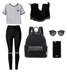 Untitled #1 by agenao27 on Polyvore featuring polyvore, fashion, style, Chicnova Fashion, Dr. Martens, Givenchy, Yves Saint Laurent and clothing
