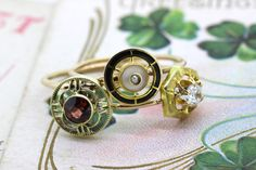 Antique Stick Pin Conversion Rings from Ferguson's Fine Jewelry on Etsy
