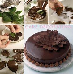 Listki z czekolady, którymi udekorujesz każde ciasto/tort! A zrobisz...