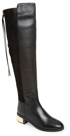 Kurt Geiger 'Wizard' Suede & Leather Knee High Boot - 50% off  #GiftIdeas #GiftGuide