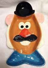 Mr. Potato Head Ceramic Hand Painted Chip and Dip Server Platter Dish - Rare