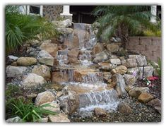 American Complete Pondless Waterfall Kit The Pond and Garden Depot offers a wide range of products for the yard and landscape specializing in products for garden ponds and water features. Water Feature Kits, Backyard Water Feature, Ponds Backyard, Garden Ponds, Water Falls Backyard, Backyard Waterfalls, Koi Ponds, Pond Landscaping, Landscaping With Rocks