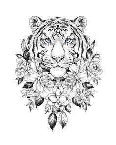Mini Tattoos, Body Art Tattoos, Tattoos For Guys, Ankle Tattoos, Small Tattoos, Tiger Tattoo Design, Tattoo Designs, Tattoo Ideas, Tattoo Sketches