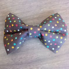 Hey, I found this really awesome Etsy listing at https://www.etsy.com/listing/231702592/rainbow-polka-dot-pet-bow-tie