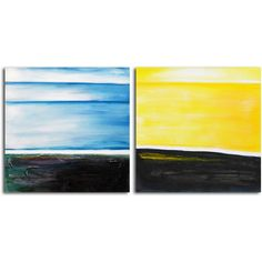 Omax Decor 'From Dusk til Dawn' 2 Piece Painting on Wrapped Canvas Set