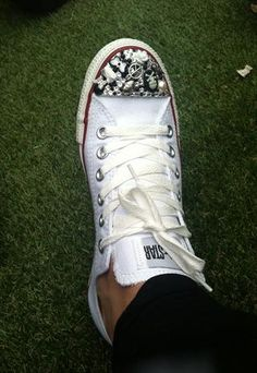 ab8858e34dcf AMAZING 3D BLING CUSTOMISED CRYSTAL CONVERSE Chuck Taylor Sneakers