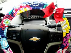 Steering Wheel Cover with Bow Bright Mod by TurtleCoveStudio