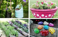 34 Garden Crafts: DIY Planters, Flower Pot Crafts, and More DIY Garden Ideas | AllFreeHolidayCrafts.com