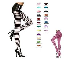 Black/Hot Pink, Std Size (Up to 175 lbs) - Striped Opaque Tights Sky Hosiery http://www.amazon.com/dp/B005I68CMO/ref=cm_sw_r_pi_dp_ToSbwb1PDWT3G
