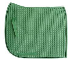 Olympic Flag-Tail Dressage Saddle Pad.  Ivy Moss Green with Black/Trim.  PRI Equine #Dressage #HorseTack #Equestrian #Dressagetack