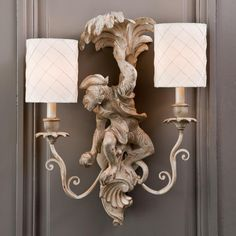 Classic Monkey and Palm Tree Sconce