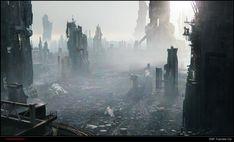 3D future cityscape