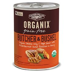 Organix Butcher and Bushel Organic Choice Chicken Wing and Thigh Dinner with Fresh-Harvest Sweet Potatoes for Pets, 12.7-Ounce , pack of 12 -- Learn more @