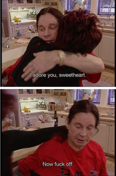 """When Ozzy was a loving husband to Sharon, in the most Ozzy way possible: 