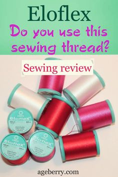 This stretchable Eloflex thread can be used in a regular sewing machine with regular straight stitch function to sew knits or stretchy woven fabric. Easy Sewing Projects, Sewing Projects For Beginners, Knitting For Beginners, Sewing Tutorials, Sewing Hems, Sewing Elastic, Fabric Sewing, Woven Fabric, Sewing A Button