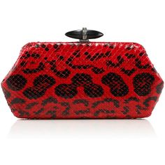 Whitman Anaconda Clutch Bag, Red/Black - Judith Leiber Couture found on Polyvore