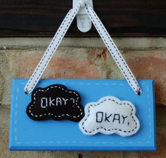 This sign is inspired by the fantastic book 'The Fault in our Stars' by John Green. The sign is made out of MDF. It measures by and is hand painted using 'Craig and Rose - Med Persian Blue'. Local Craft Fairs, Persian Blue, Mollie Makes, Tfios, The Fault In Our Stars, John Green, Fairy Land, Its Okay, Home Decor Items