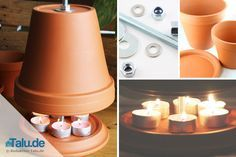 Build your own tealight oven - Questioned: Test of heating power - Talu. - Build your own tealight oven – Questioned: Test of heating output – Talu.de You can build a te - # Candle Lamp, Candles, Ikea Kallax Hack, Clever Gadgets, Wood Fired Oven, Diy Fireplace, Fireplaces, Easy Diy Crafts, Clay Pots