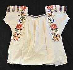 Mexico Puebla Blouse (Teyacapan) Tags: mexico beads mexican textiles tehuacan puebla ropa blouses nahua chaquira chinapoblana chilac