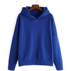 Hooded Loose Blue Sweatshirt ($13) ❤ liked on Polyvore featuring tops, hoodies, sweatshirts, blue, pullover hoodie, sweatshirt hoodie, hoodie sweatshirts, hooded sweat shirt and cotton pullovers