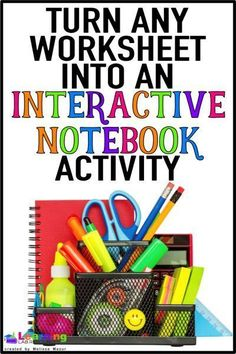 Any Worksheet into an Interactive Notebook Activity Learn how to turn any boring worksheet into an interactive notebook activity.Learn how to turn any boring worksheet into an interactive notebook activity. Interactive Student Notebooks, Science Notebooks, Reading Notebooks, Interactive Books, Interactive Whiteboard, Math Journals, Interactive Activities, Biology Interactive Notebook, Visual Journals