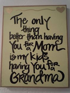 Handpainted 8x10 canvas for Mom or Grandma by WordsOfWhimsyJill, $25.00