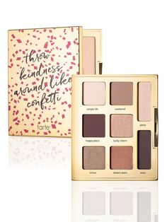 young, wild & free eye-shadow palette from Tarte cosmetics....Ladies, I have this palette and love the colors but here is a tip- the fall out is terrible but if you wet your brush first you will spare yourself the muddy under-eye look no one wants!