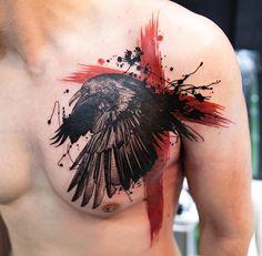Mikhail Anderson Raven tattoo
