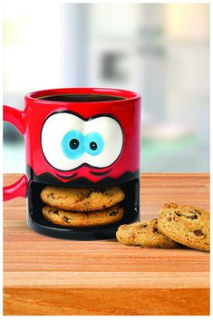 Funny Coffee Mug with Cookie Holder #thisgiftissocool #cookies #mugs #funnygift