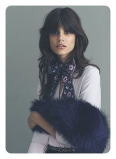 HAIR : Antonina Petkovic by Emre Guven for Vogue Turkey August 2015 Front Bangs Hairstyles, My Hairstyle, Cool Hairstyles, Ladies Hairstyles, Elegant Hairstyles, 70s Haircuts, Hair Inspo, Hair Inspiration, Inspo Cheveux