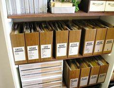 情報ファイルボックス | DIY・ハンドメイド・収納…暮らしなモノづくり Outdoor Awnings, Diy Interior, Room Interior, Organisation, Home Organization, Office Decor, Home Office, Storage Solutions, Small Workspace