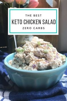 Keto Chicken Salad- Rotisserie, Canned, and Leftover Chicken Recipes — Megan Seelinger Women's Weight loss & Nutrition Coaching - I've always counted macros and have always tried to avoid high-fat foods, but I have pretty much - Ketogenic Recipes, Low Carb Recipes, Diet Recipes, Healthy Recipes, Lunch Recipes, Recipes Dinner, Recipies, Salad Recipes, Cooker Recipes