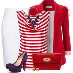 """Purple, Red and White for Spring!"" by pinkroseten on Polyvore"