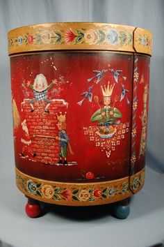 Ornament Box Does anyone know where this pattern was printed? … Ornament Box Does anyone know where this pattern was printed? Christmas Plates, Christmas Deco, Christmas Ornament, Painted Boxes, Hand Painted, Ornament Box, Ornaments, Primitive Painting, Tole Painting Patterns