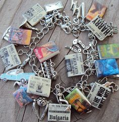 The ULTIMATE HARRYPOTTER Books Fringe Charm by sophiesbeads, $69.99 (Okay, I know I have one HP charm bracelet...but this one's really cool!)