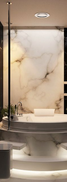 Working on a bathroom project? We can help you with some marble inspirations. Working on a bathroom project? We can help you with some marble inspirations. Dream Bathrooms, Beautiful Bathrooms, Interior And Exterior, Interior Design, Interior Decorating, Boffi, Bath Design, Bathroom Interior, Modern Bathroom