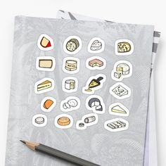 Fromage pattern (Cheese) stickers Graphic, Les Oeuvres, It Works, Cheese, Stickers, Patterns, Pattern, Block Prints, Nailed It