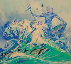 Image result for painting of poseidon