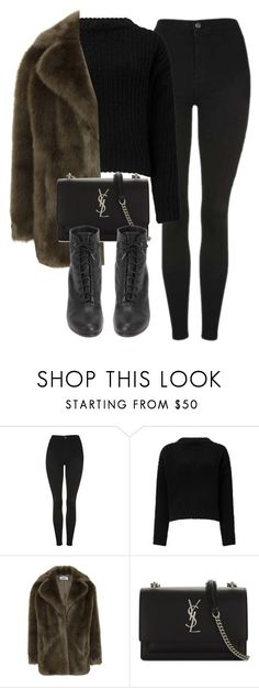 """Untitled #7119"" by laurenmboot ❤ liked on Polyvore featuring Topshop, Miss Selfridge, Jakke, Yves Saint Laurent and rag & bone"