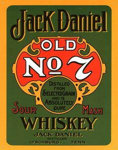 Old Signs | Sour Mash Whiskey - Jack Daniels Tin Sign - OnePoster.com