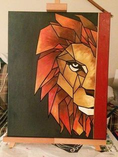 80 Simple Acrylic Canvas Painting Ideas for Beginners - Ideas Monthly Work - . - 80 Simple Acrylic Canvas Painting Ideas for Beginners – Ideas Monthly Work – - Lion Painting, Easy Canvas Painting, Simple Acrylic Paintings, Acrylic Painting Canvas, Acrylic Art, Painting & Drawing, Canvas Art, Diy Canvas, Painting Lessons
