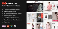 WooSome enable your site's unique presence to your client with its vibrant and diverse style. This Ecommerce WordPress theme will take your fashion store to a new height with its easy to use interface and layout builder.Features Include—Visual Composer Page Builder- Rev Slider- 2 unique homepage- 2 Header variations- SEO friendly- and much more…This theme doesn't comes with the images shown in demo.