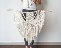 Large Macrame Wall Hanging // tapestry // macrame decor // boho decor // wall art // bohemian // Made to order