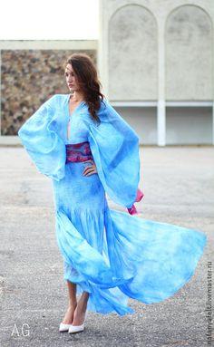 """05.05.2014 Работа дня: Валяное платье """"Light royal Blue"""".   Эксклюзивное платье…"""